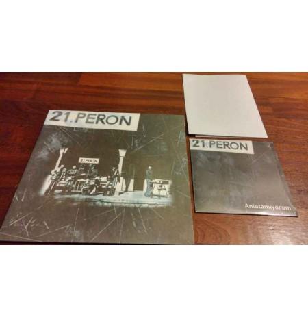 21. PERON LP (ARKAPLAN AÇILMAMIŞ PROMO 45LİK VE POSTERİ İLE) PLAK