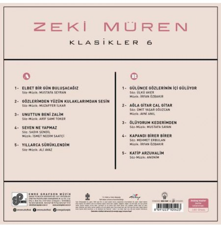 ZEKİ MÜREN  KLASİKLER-6 LP.