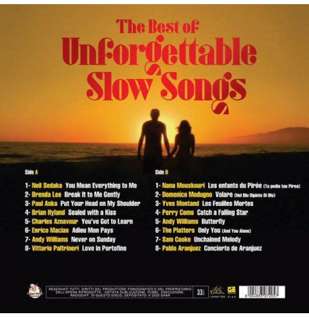 THE BEST OF UNFORGETTABLE SLOW SONGS ~ Çeşitli Sanatçılar - LP.