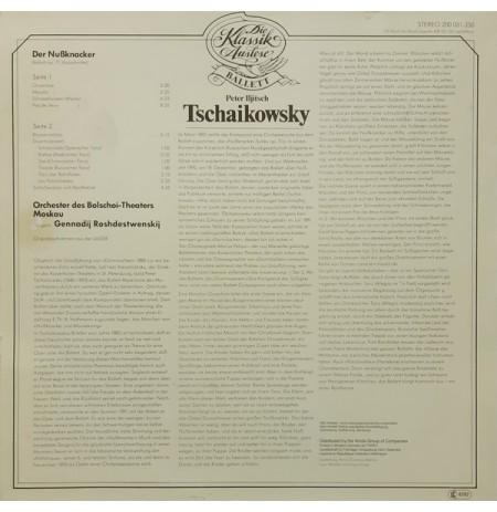 FINDIKKIRAN BALESİ, TSCHAIKOWSKY, Bolschoı Theaters Orchestra – Der Nussknacker op. 71 (Ausschnıtte) LP.