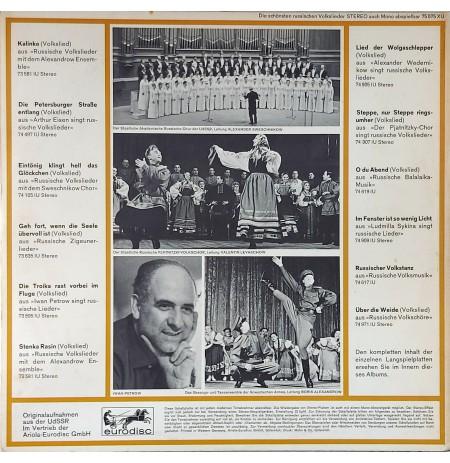 KALINKA Die Schönsten Russischen Volkslieder In Originalaufnahmen KARMA LP.