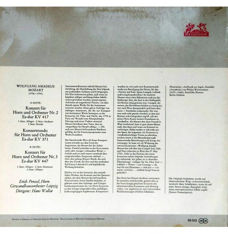 MOZART Hornkonzerte KV 417, KV 447 / Konzertrondo KV 371 KLASİK LP.