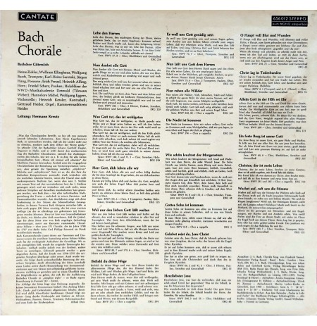 BACH Bachchor Gütersloh – Choräle KLASİK LP.