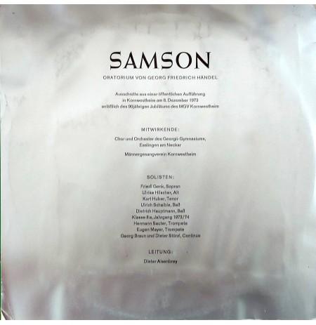 SAMSON Oratorium Von Georg Friedrich HANDEL KLASİK LP.