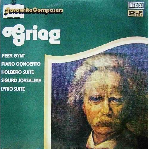 GRIEG, FAVOURITE COMPOSERS  KLASIK DOUBLE LP. PLAK
