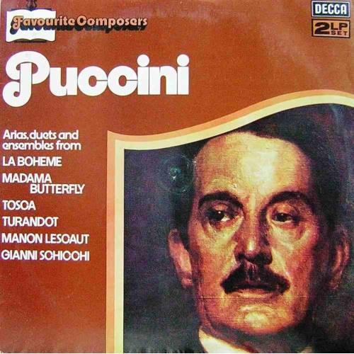 PUCCINI, FAVOURITE COMPOSERS  KLASIK DOUBLE LP. PLAK