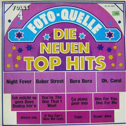 DIE NEUEN TOP HITS FOLGE 4 KARMA POP LP. PLAK