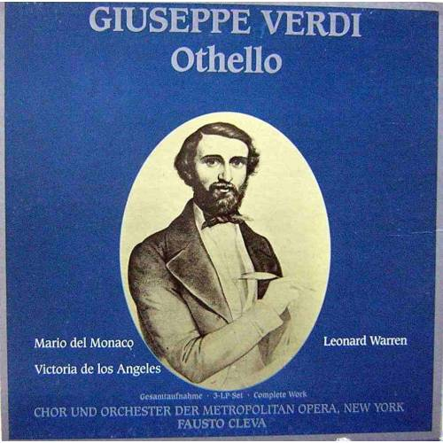 GIUSEPPE VERDI OTHELLO 3 LP. BOX SET PLAK