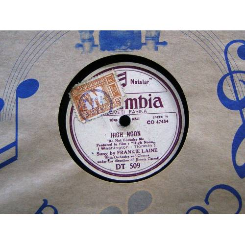 TAŞ PLAK, FRANKIE LAINE WITH ORCH.  COLUMBIA