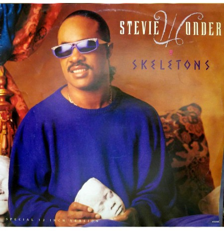 STEVIE WONDER SKELETONS MAXI SINGLE  (VOCAL~INSTRUMENTAL) 45 RPM. PLAK