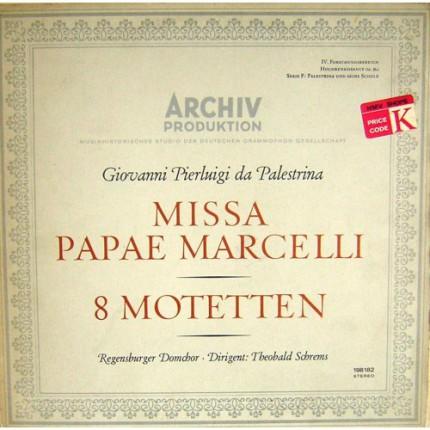 MISSA PAPAE MARCELLI 8 MOTETTEN KLASIK LP. PLAK